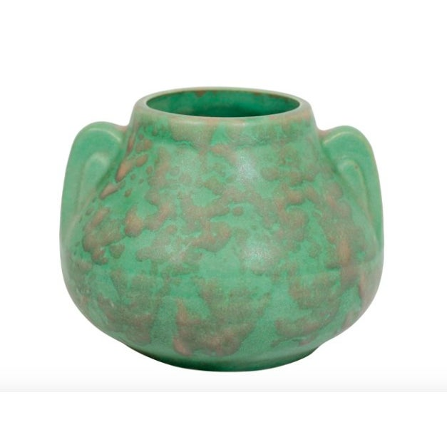 Arts crafts green pottery vase chairish for Arts and crafts pottery