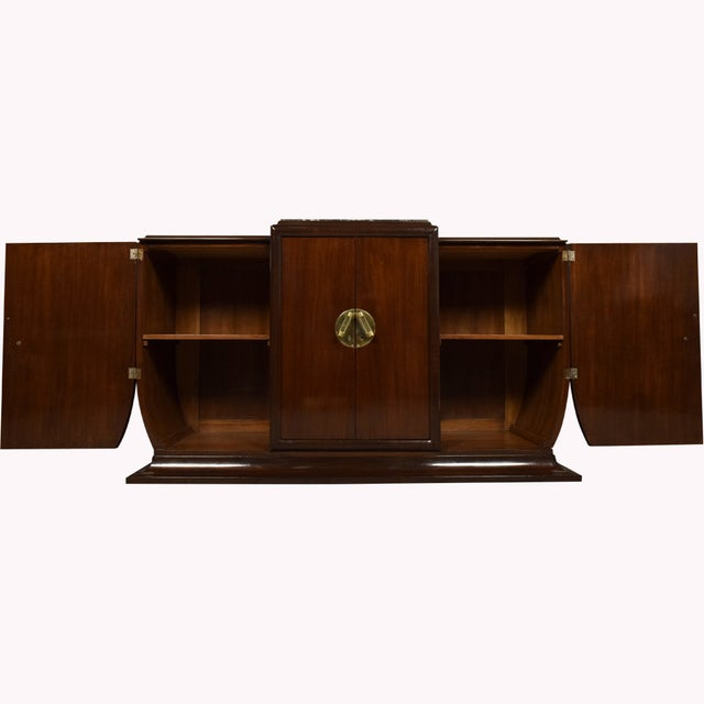 1930's French Art Deco Mahogany Buffet - Image 4 of 10