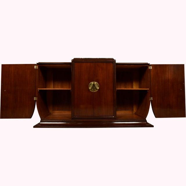 Image of 1930's French Art Deco Mahogany Buffet