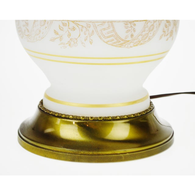 Vintage Satin Glass Table Lamp - Image 9 of 10