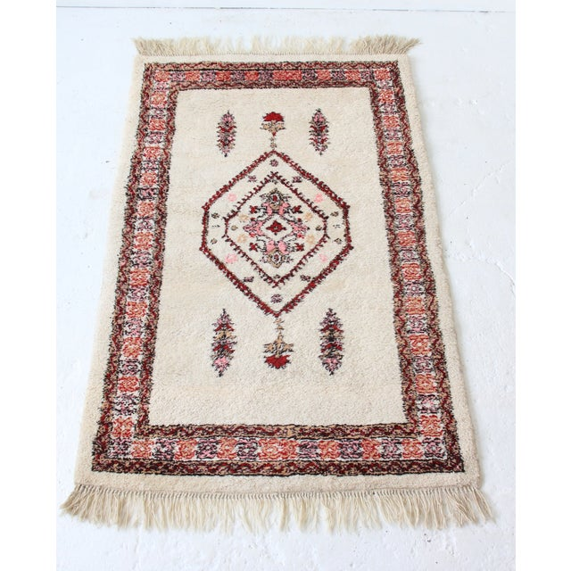 Vintage Pink & White Moroccan Rug - 3′11″ × 5′10″ - Image 2 of 7