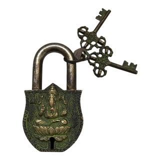 Tibetan Lord Ganesha Bronze Mystery Lock