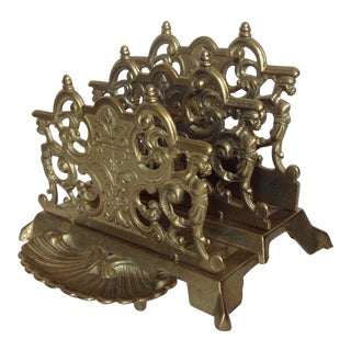 Brass Letter Holder with Gryphons