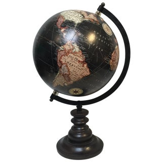 Black Antique-Style World Globe