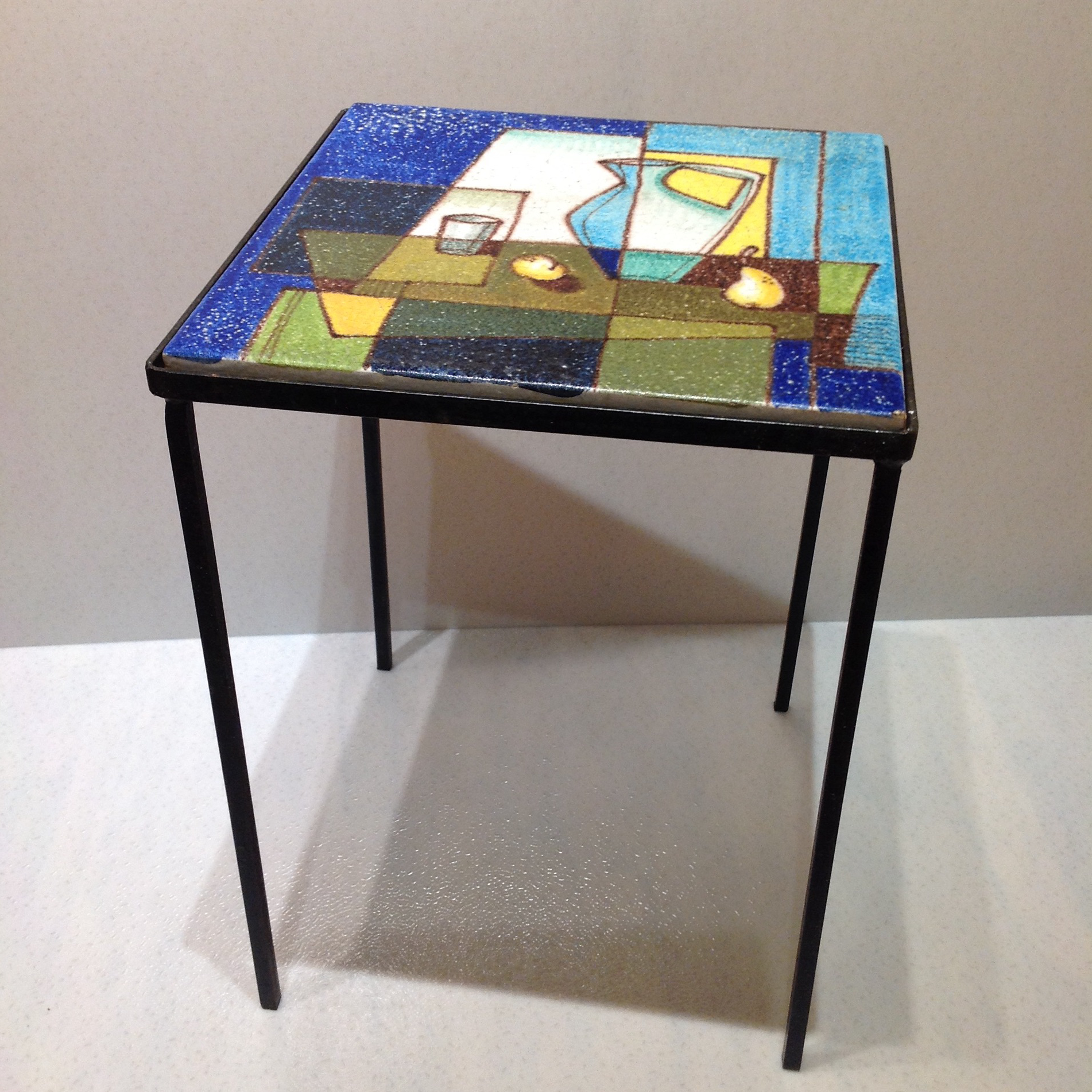 image of midcentury side table by alvino bagni for raymor
