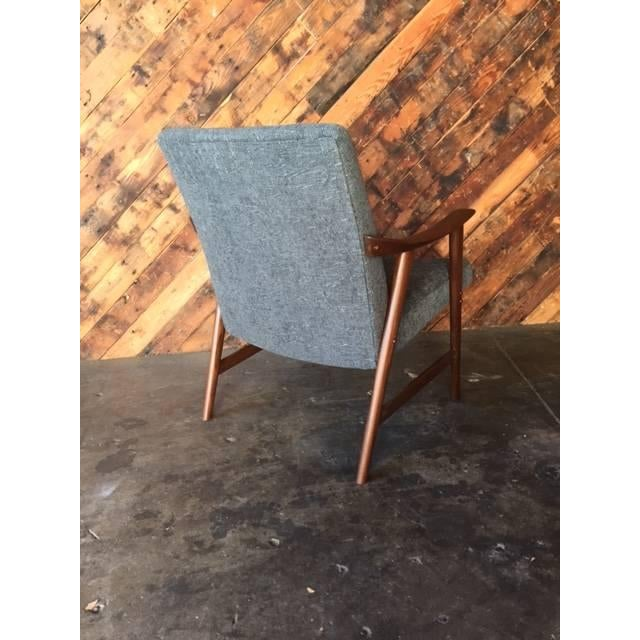 Adolf Relling Mid-Century Refinished Gray Chair - Image 4 of 6