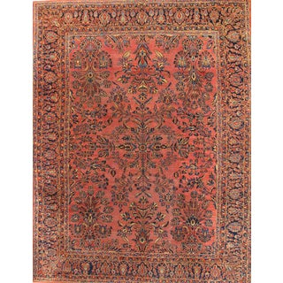 "Pasargad N Y Persian Antique Hand Knotted Sarouk Rug - 8'11"" X 11'6"""