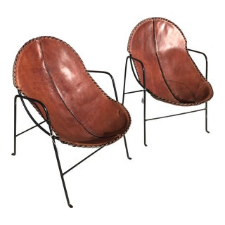 Mexican Modern Leather & Iron Chairs