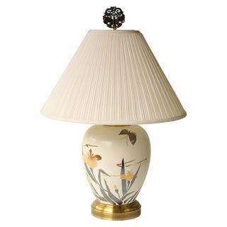 Wildwood Butterfly And Iris Table Lamp