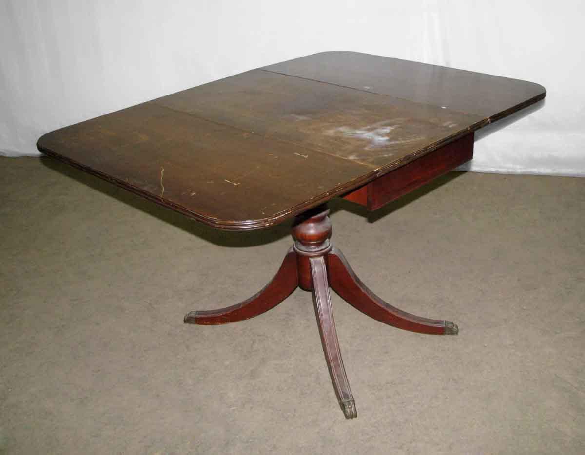 Drop Leaf Duncan Phyfe Table With One Center Drawer   Image 10 Of 11