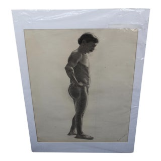 Vintage Male Nude Drawing