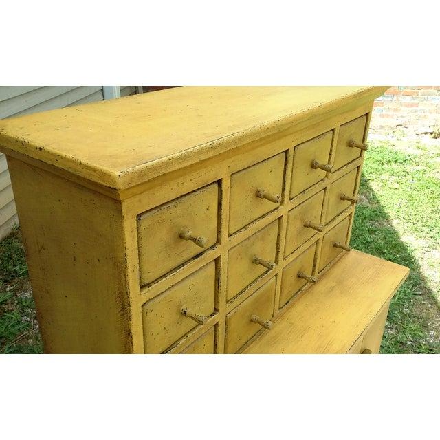 Handmade Yellow Apothecary Cupboard - Image 10 of 10