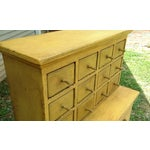 Image of Handmade Yellow Apothecary Cupboard