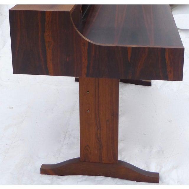 Midcentury Danish Modern Rosewood Desk - Image 7 of 11