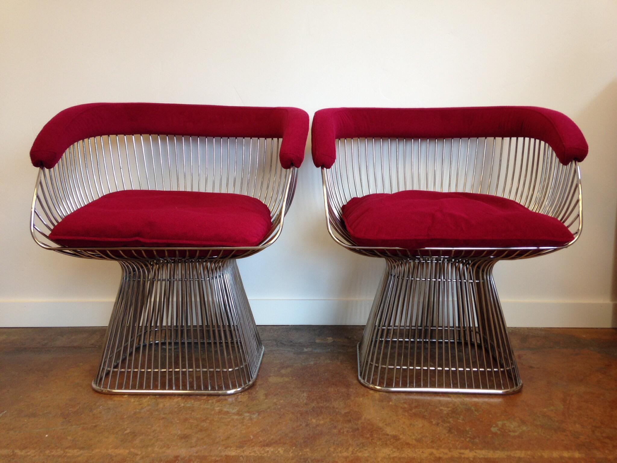 Vintage Warren Platner Style Chairs A Pair Chairish