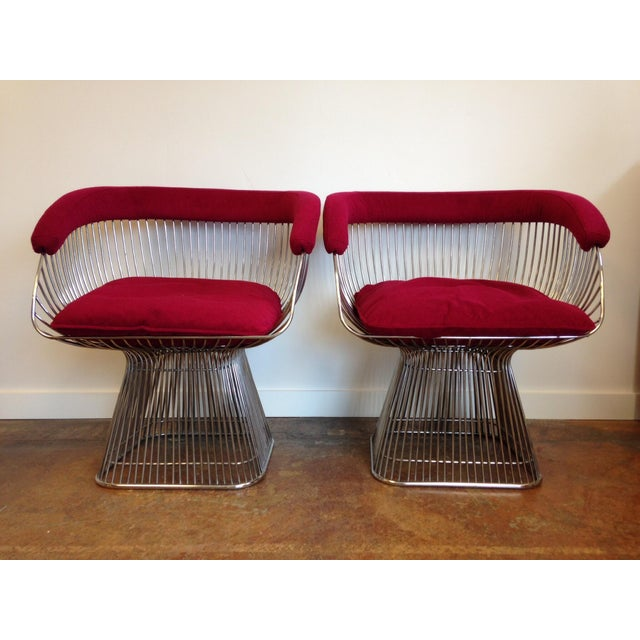 vintage warren platner style chairs a pair chairish
