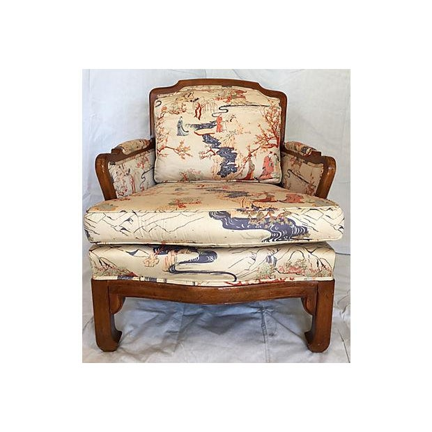 Vintage Chinoiserie Ming Style Wooden Chair - Image 2 of 7