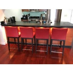 Image of Soho Concepts Aria Red Counter Stools- Set of 4