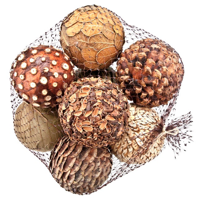 Natural decorative balls set of chairish