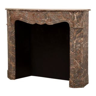 Antique French Louis XV Style Marble Fireplace c.1875