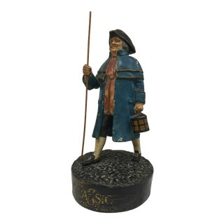 English Antique Paper Mache Figure