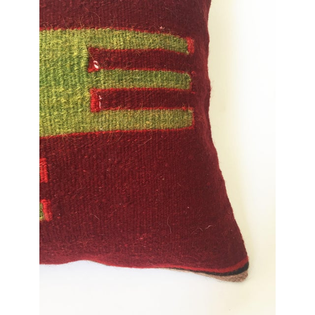 Vintage Kilim Square Pillow - Image 4 of 5