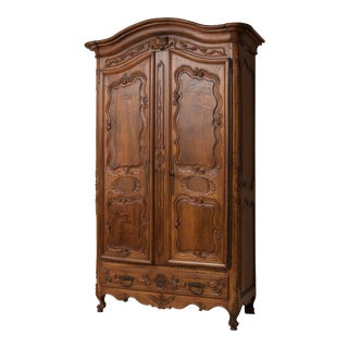 Regency Walnut Wood Armoire