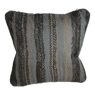 Robert Allen Zigzag Graphite Pillow Cover