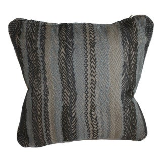Robert Allen Zigzag Graphite Pillow Cover