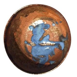 Brown & Blue Stoneware Bowl