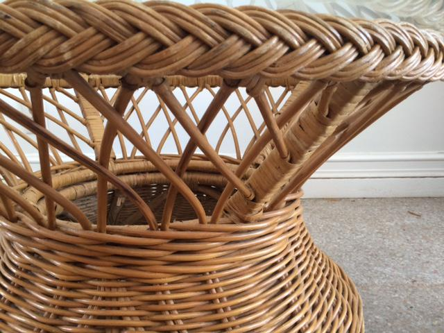 Lovely Vintage Bielecky Brothers Round Rattan Coffee Table   Image 10 Of 10