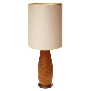 Lava Glaze Ceramic Table Lamp after Fantoni