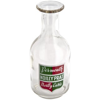 Vintage French Noilly Pratt Glass Bottle