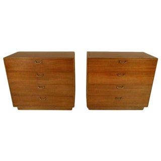 Harvey Probber Mid-Century 4 Drawer Dressers - a Pair