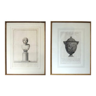 Two 18th Century Italian Neoclassical Engravings in Giltwood Frames