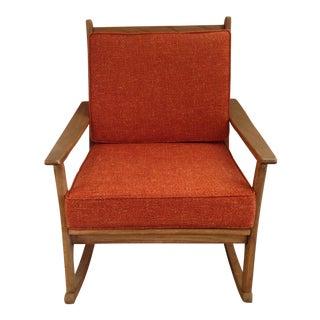 Mid-Century Modern Teak Rocking Chair