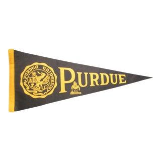 Vintage Purdue University Pennant