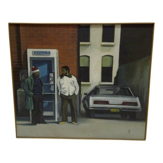 1983 Hanging Out in Pittsburgh Painting on Canvas by Renee Stout
