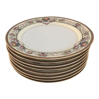 Floral & Fruit Design Salad Plates - Set of 8