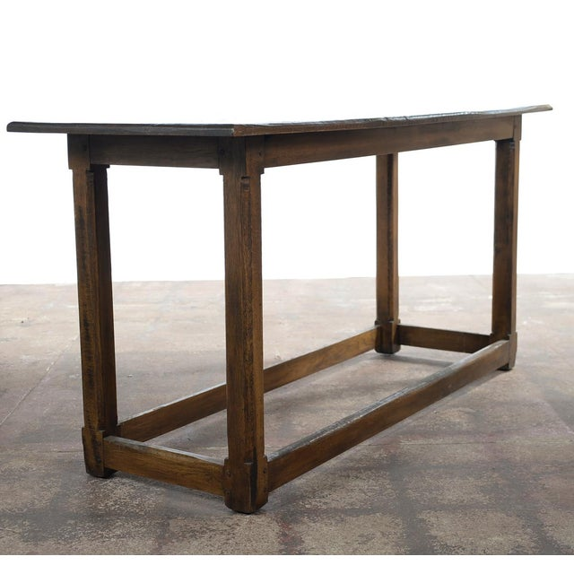 Antique farm wooden sofa table console chairish