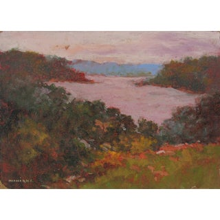 Cove at Sunset Landscape Oil Painting