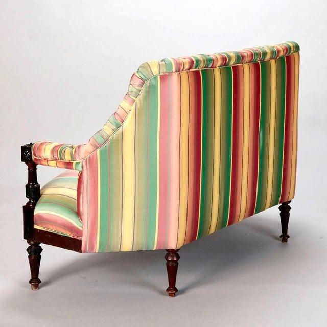 19th Century Spanish Sofa With Turned and Carved Frame - Image 4 of 10