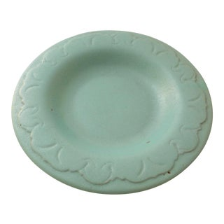 Arts and Crafts Catalina Style Sea Foam Green California Pottery Plate