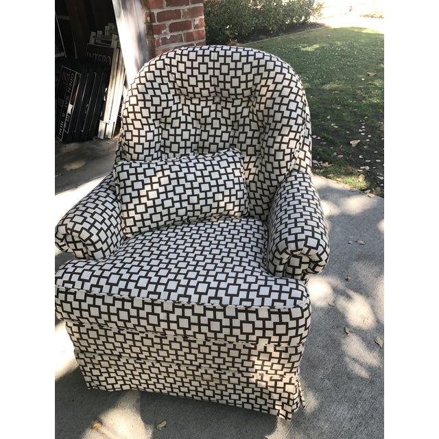 Geometric Pattern Upholstered Rocking Chair - Image 2 of 6