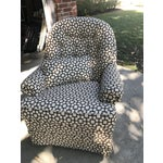 Image of Geometric Pattern Upholstered Rocking Chair