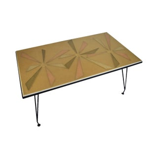 Mid Century Modern Patio Dining Table