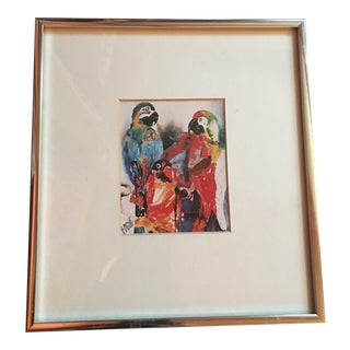 Signed Parrot Print by A. Dygert