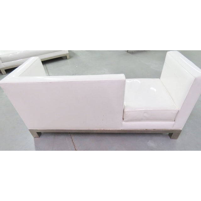 J.A. Casillas White Vinyl Sofa - Right - Image 6 of 6