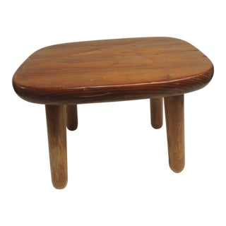 Small Primitive Wooden Milking Stool