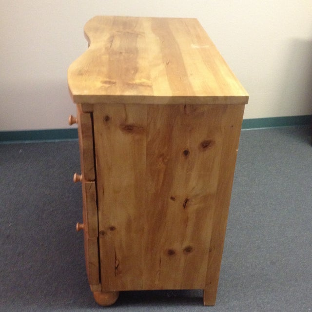 Large Curved Front Three Drawer Dresser - Image 3 of 9